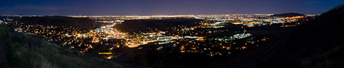 Panorama of Golden, Denver, and surrounding areas