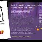 Fruit Revival brochure